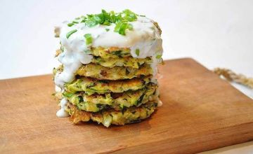 Courgette & cheese pancakes